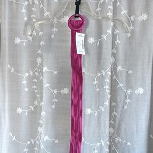 Medium pink stretch belt